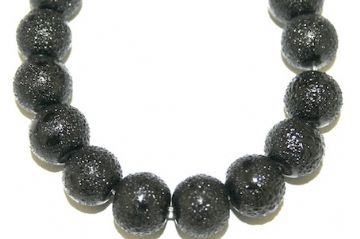 6mm Black Glass Blister Moon Pearls- 155 pces